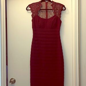 Cache Maroon Dress